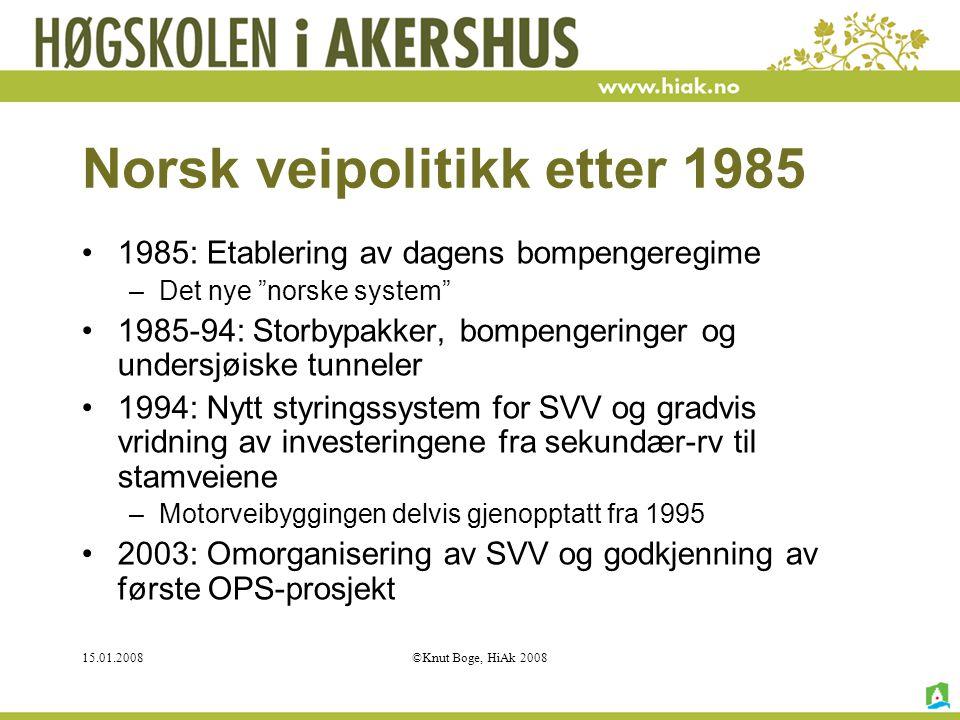 Norsk veipolitikk etter 1985