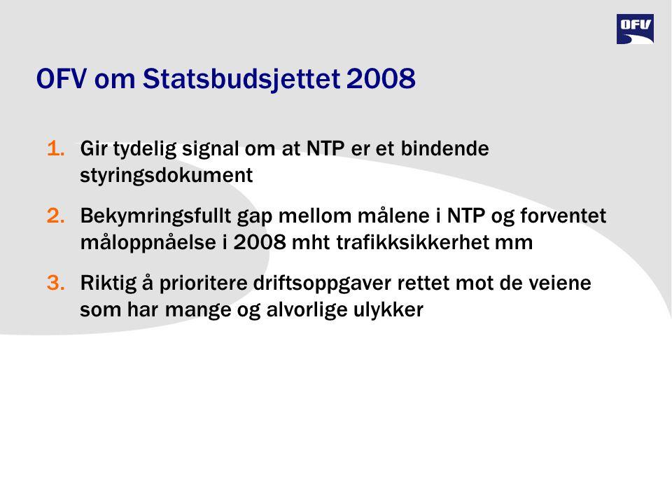 OFV om Statsbudsjettet 2008