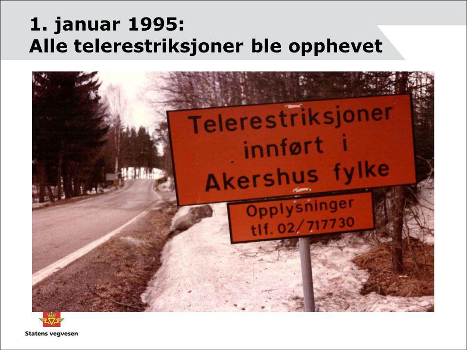 1. januar 1995: Alle telerestriksjoner ble opphevet