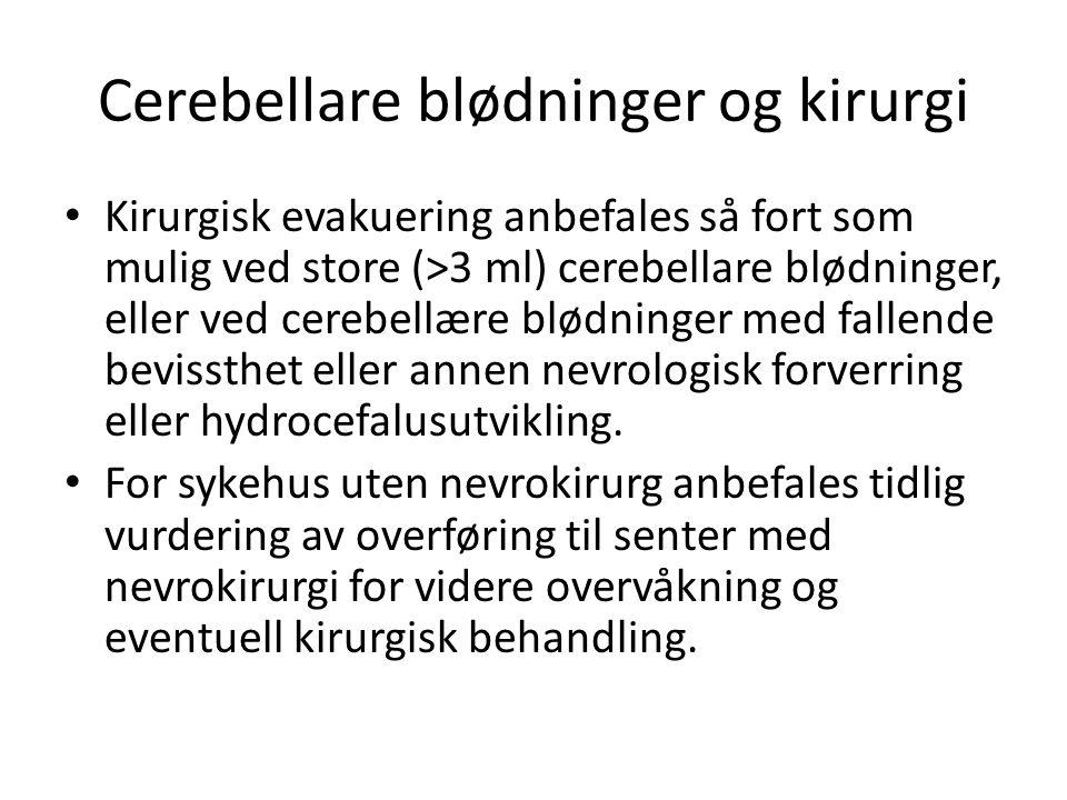 Cerebellare blødninger og kirurgi