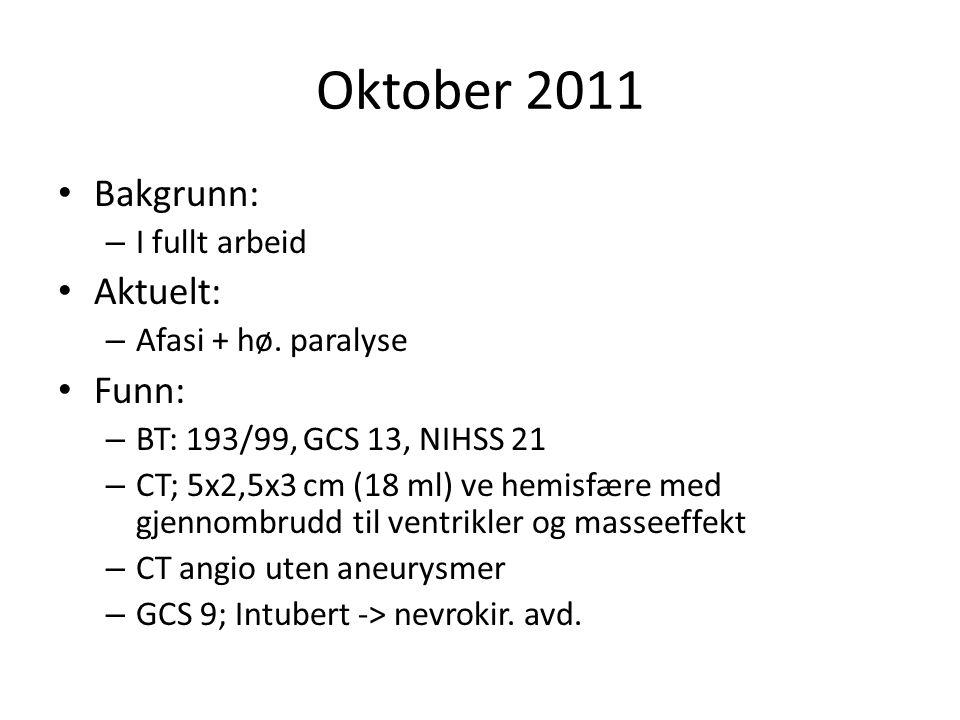 Oktober 2011 Bakgrunn: Aktuelt: Funn: I fullt arbeid