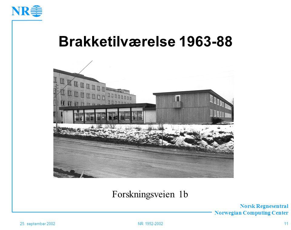 Brakketilværelse 1963-88 Forskningsveien 1b