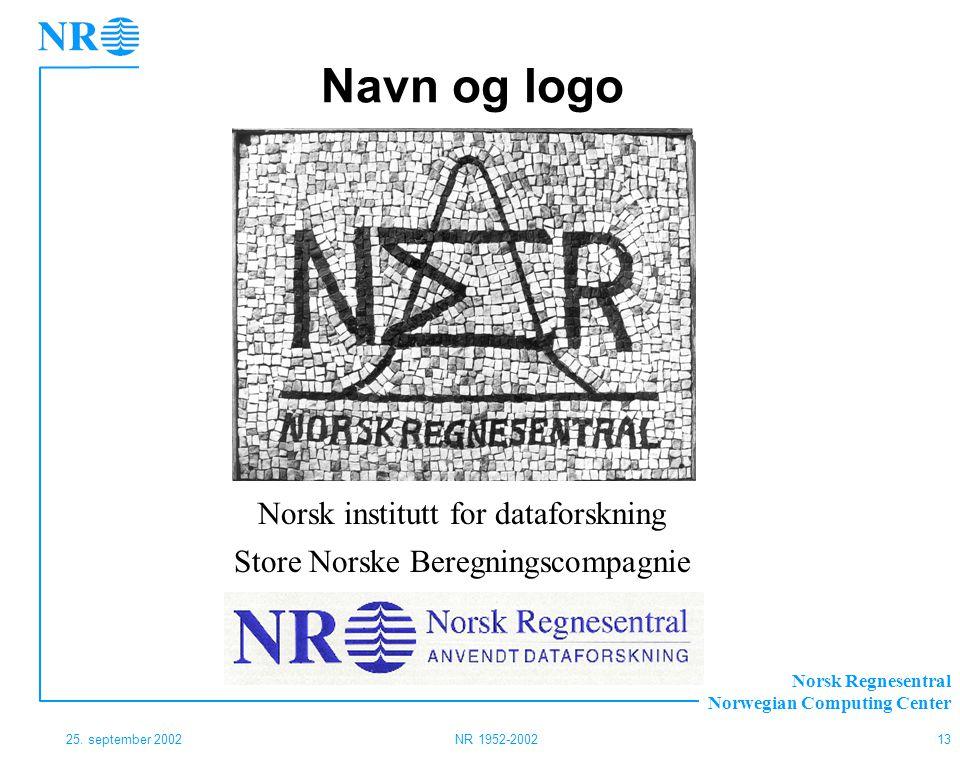 Navn og logo Norsk institutt for dataforskning