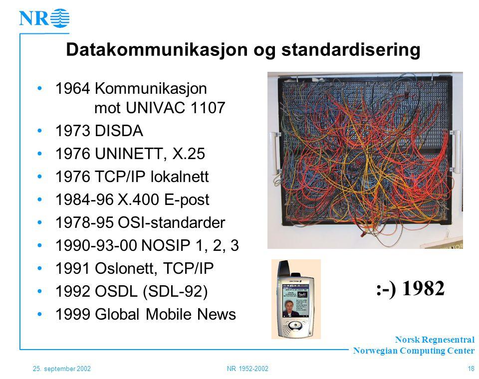 Datakommunikasjon og standardisering
