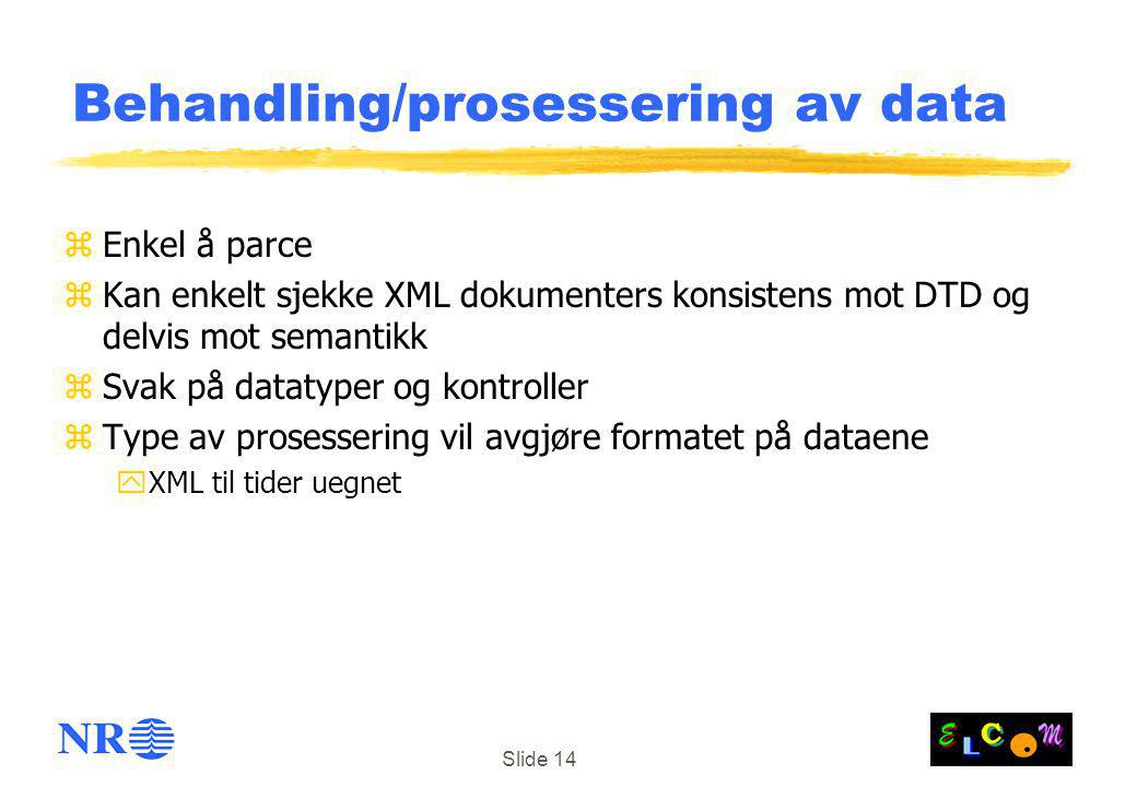 Behandling/prosessering av data