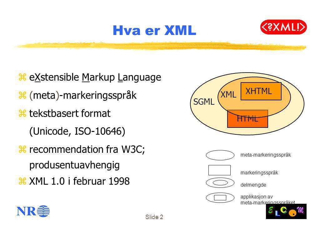 Hva er XML eXstensible Markup Language (meta)-markeringsspråk