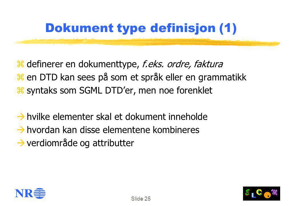 Dokument type definisjon (1)