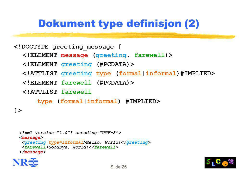 Dokument type definisjon (2)