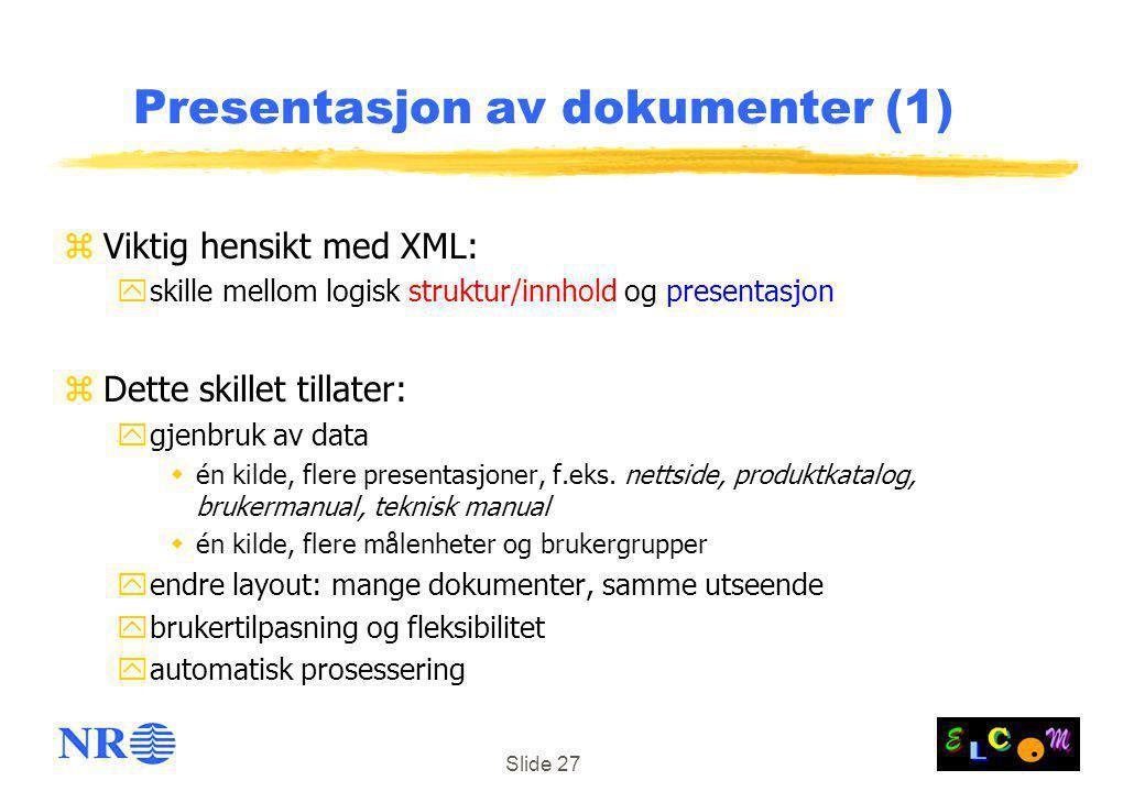 Presentasjon av dokumenter (1)