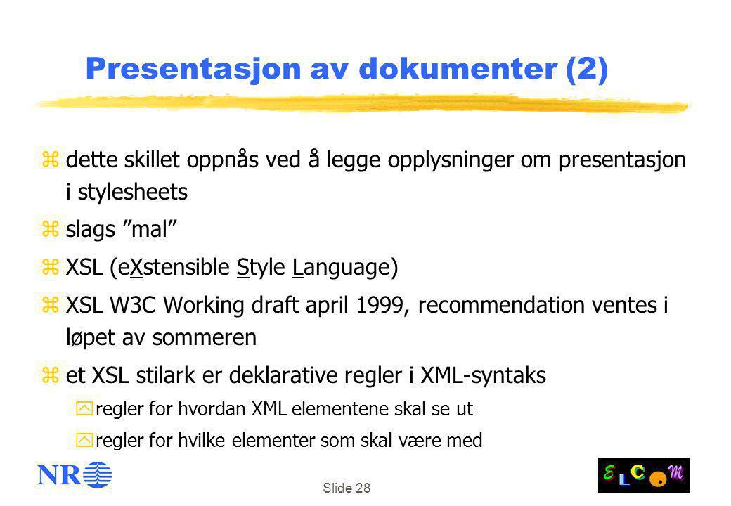 Presentasjon av dokumenter (2)