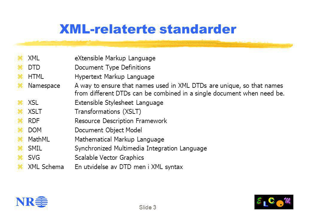 XML-relaterte standarder