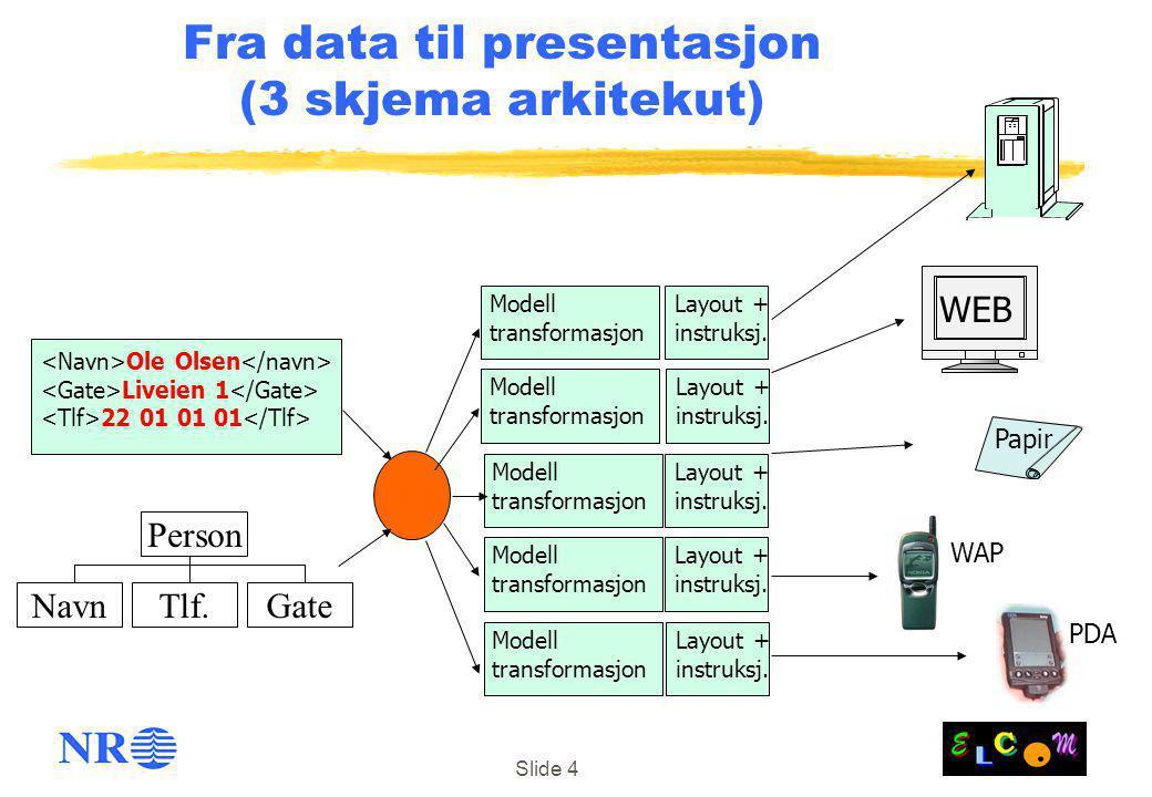 Fra data til presentasjon (3 skjema arkitekut)