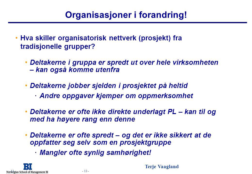 Organisasjoner i forandring!