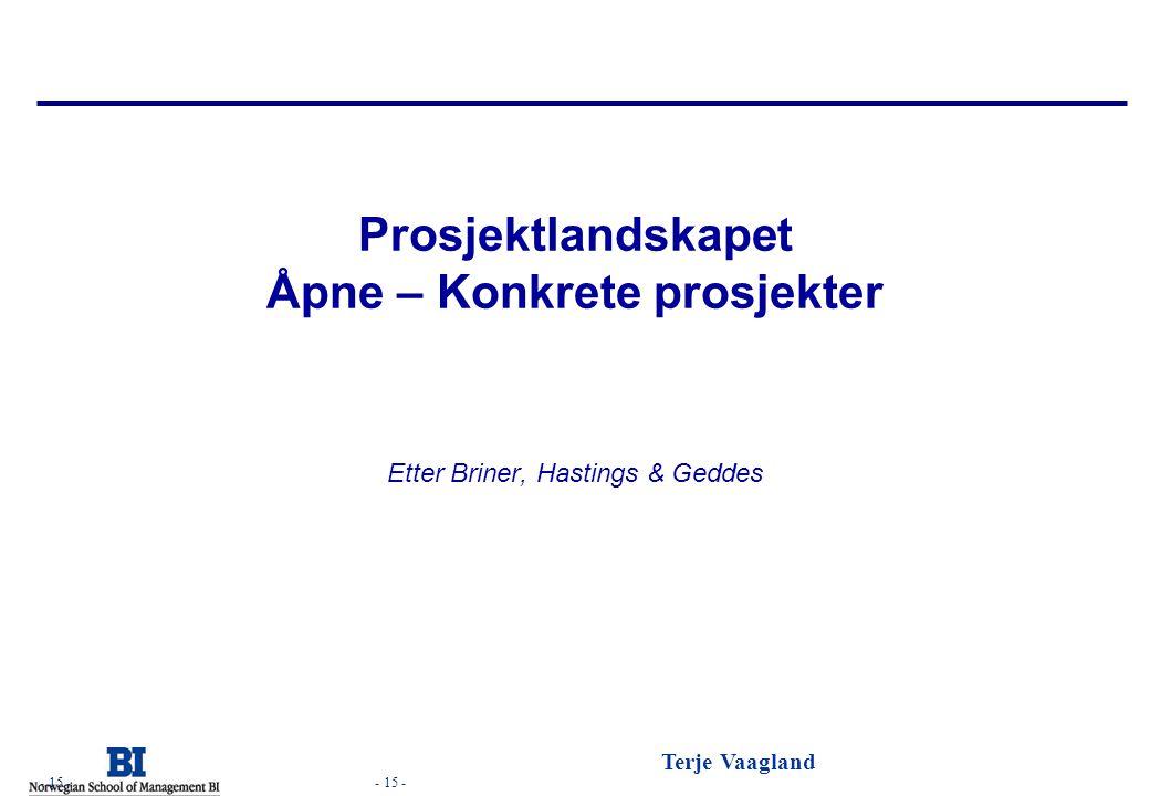Prosjektlandskapet Åpne – Konkrete prosjekter