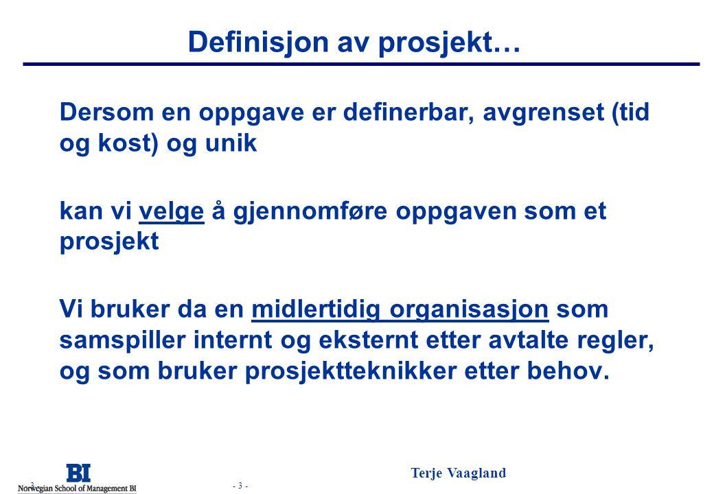 Definisjon av prosjekt…