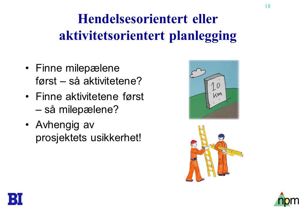 Hendelsesorientert eller aktivitetsorientert planlegging