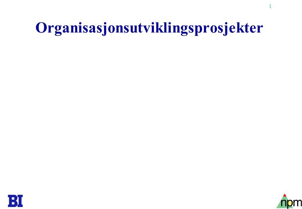 Organisasjonsutviklingsprosjekter