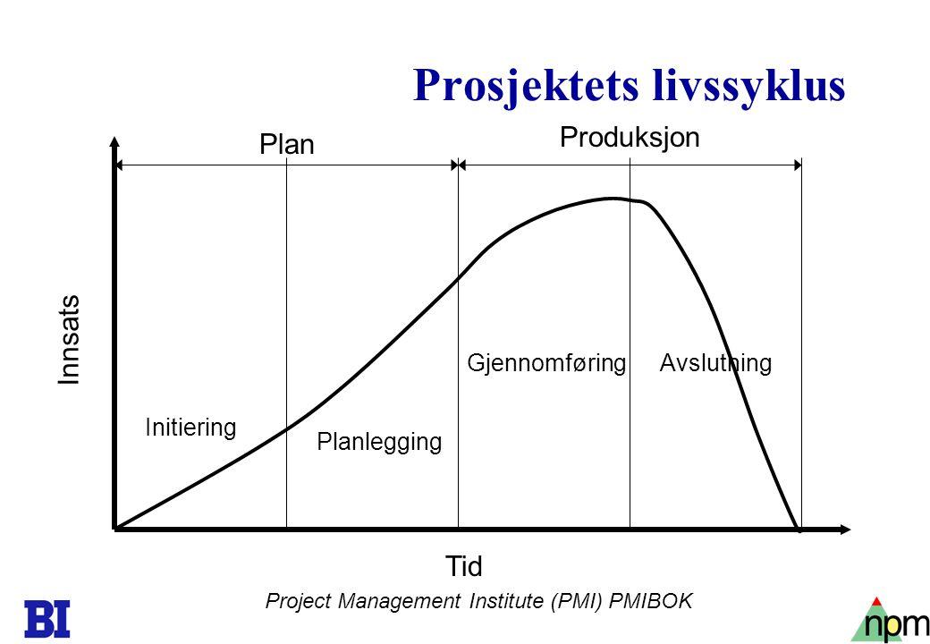 Prosjektets livssyklus