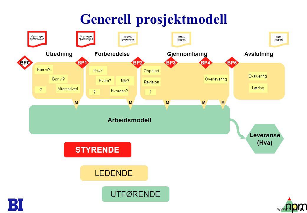 Generell prosjektmodell