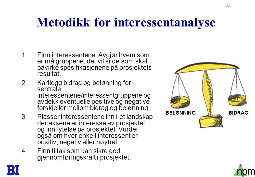 Metodikk for interessentanalyse