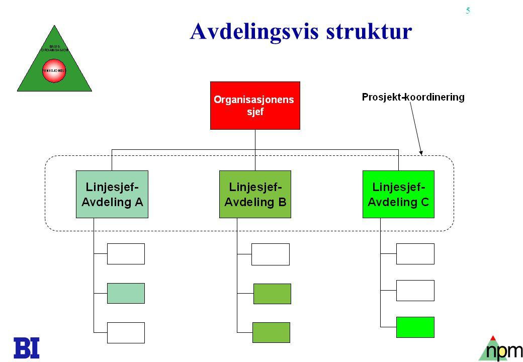 Avdelingsvis struktur