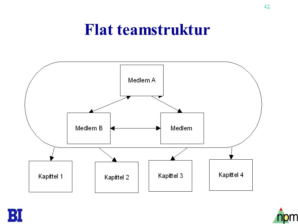 Flat teamstruktur