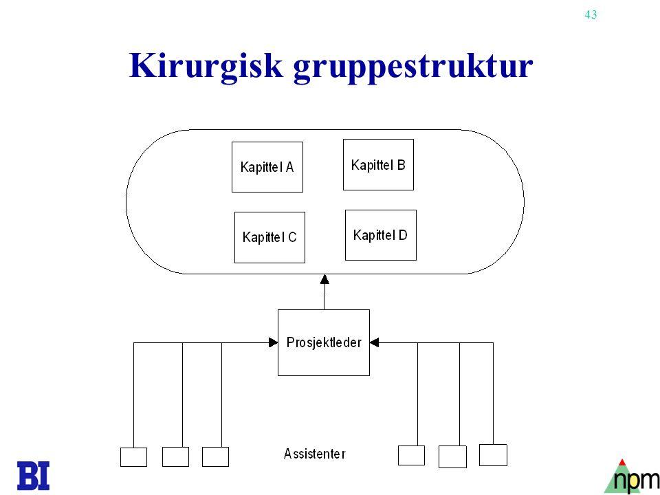 Kirurgisk gruppestruktur