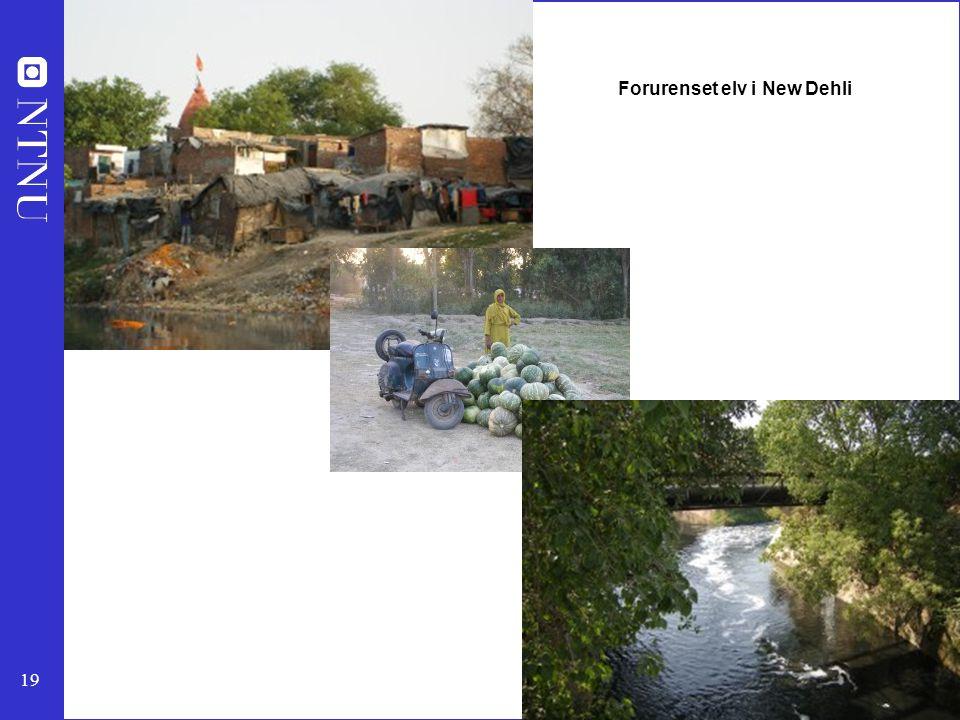 Forurenset elv i New Dehli
