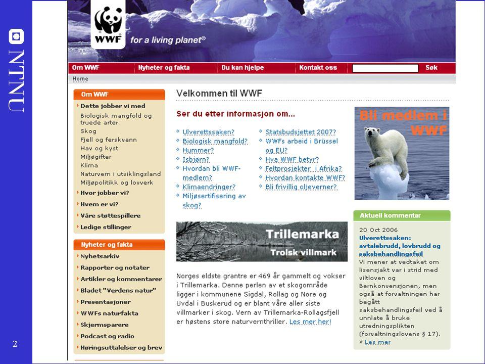 Mye av stoffet jeg vil legge fram er sakset fra jobbing for WWF og Naturfagsenteret i vår med undervisningsopplegg med bærekraftig utvikling.