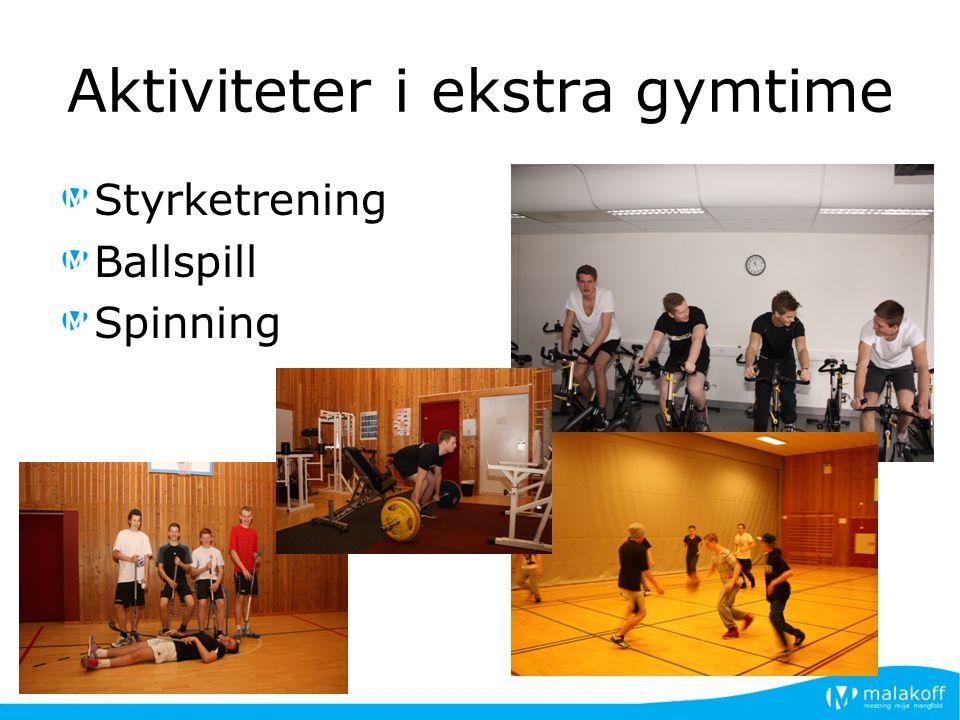 Aktiviteter i ekstra gymtime