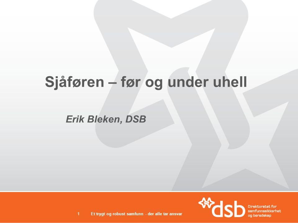 Sjåføren – før og under uhell Erik Bleken, DSB