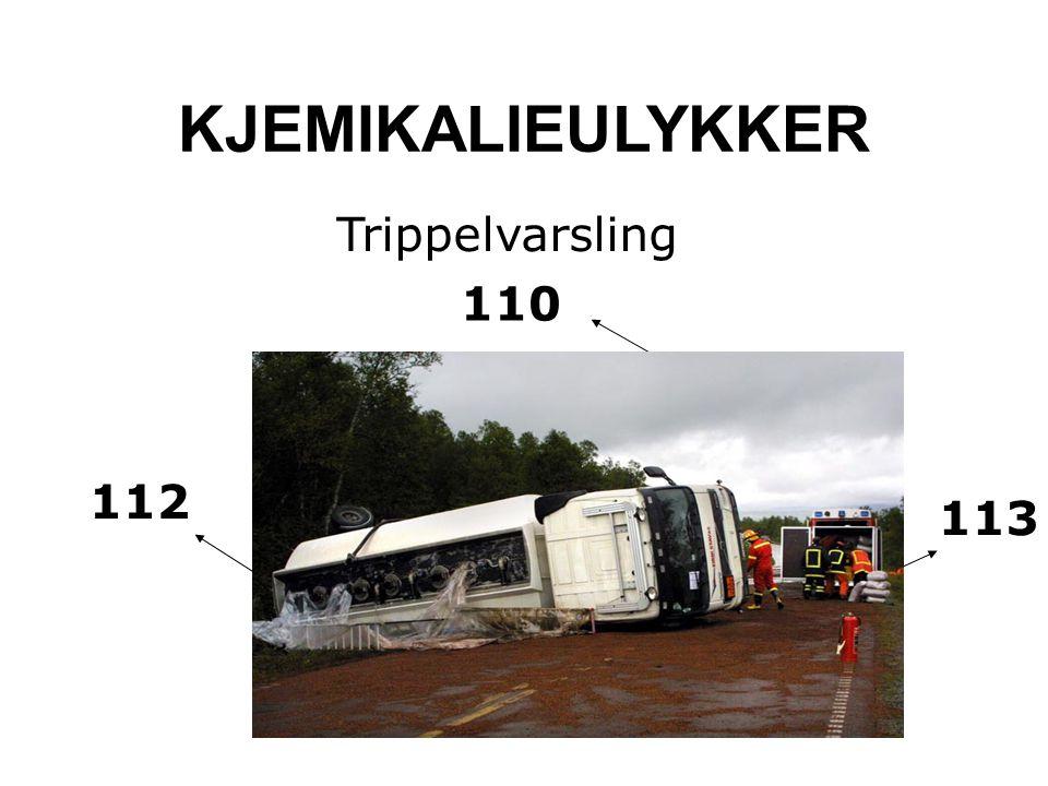 KJEMIKALIEULYKKER Trippelvarsling 110 112 113