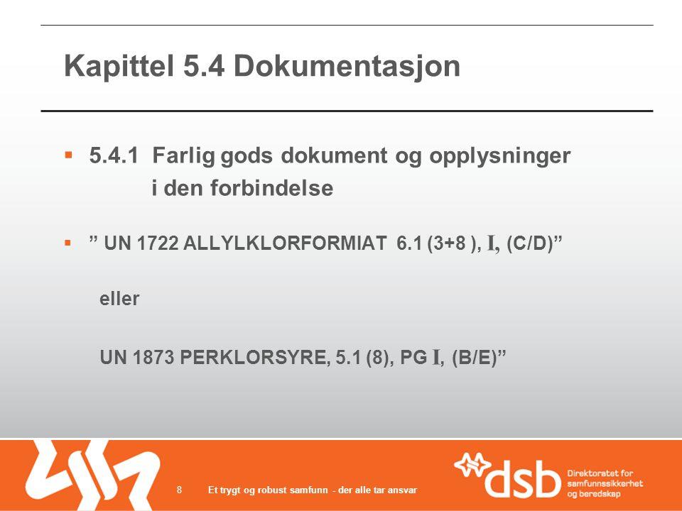 Kapittel 5.4 Dokumentasjon