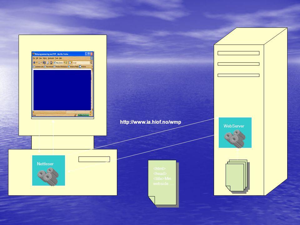 http://www.ia.hiof.no/wmp WebServer Nettleser