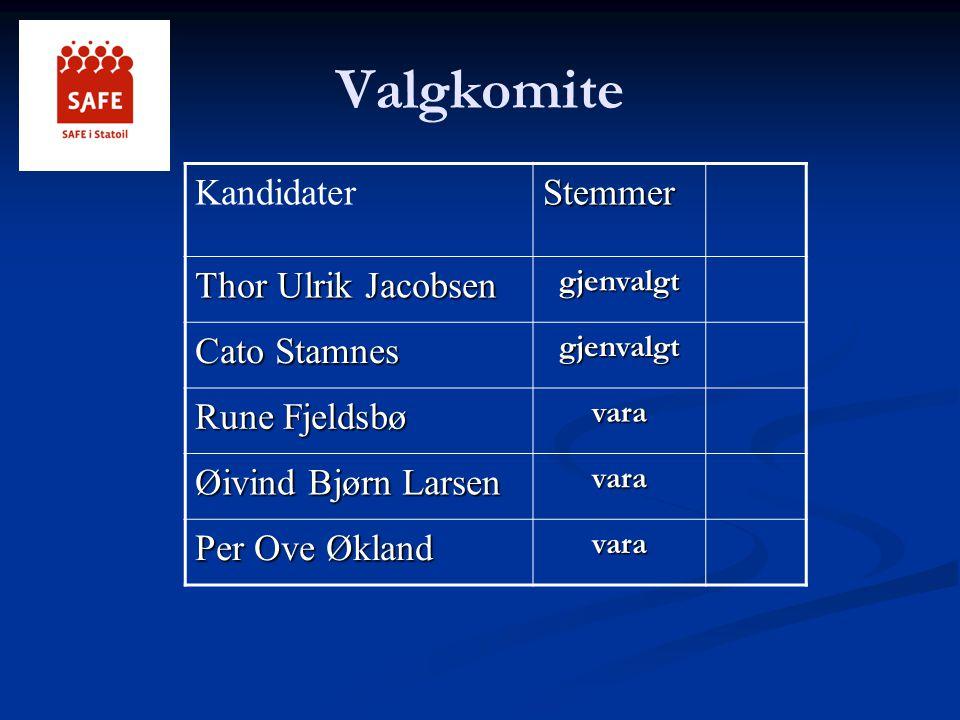 Valgkomite Kandidater Stemmer Thor Ulrik Jacobsen Cato Stamnes