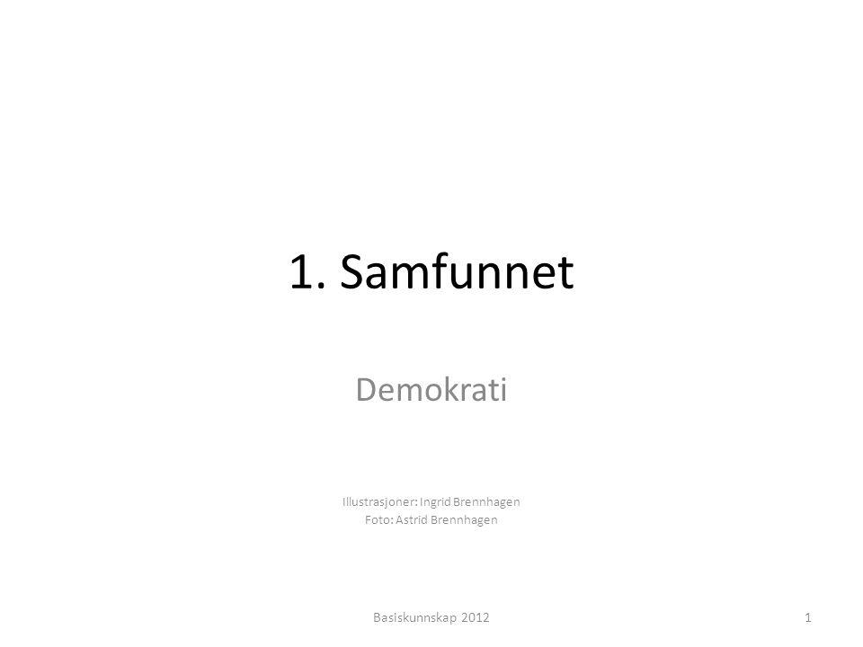Demokrati Illustrasjoner: Ingrid Brennhagen Foto: Astrid Brennhagen