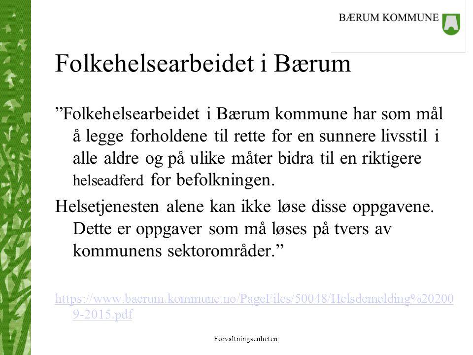 Folkehelsearbeidet i Bærum