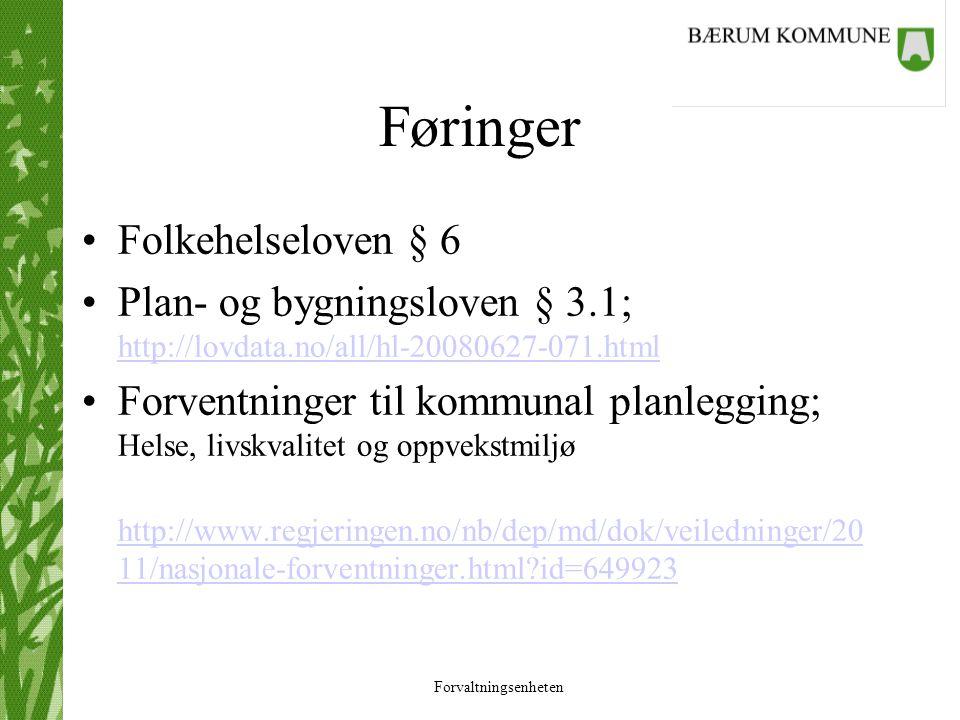 Føringer Folkehelseloven § 6