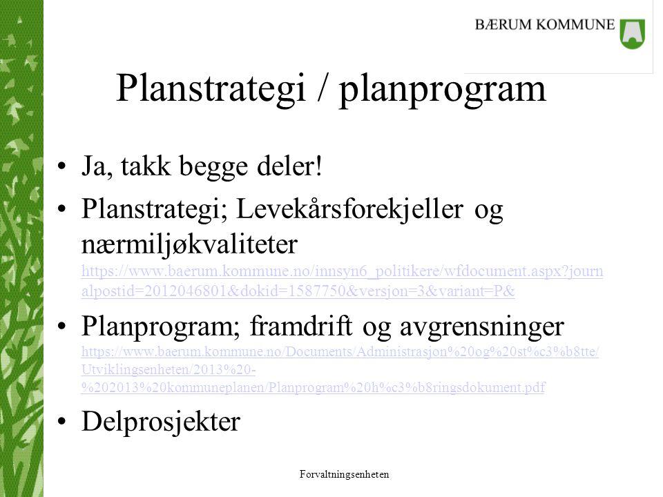 Planstrategi / planprogram