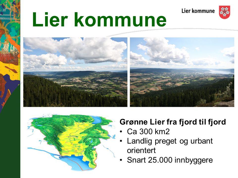 Lier kommune Grønne Lier fra fjord til fjord Ca 300 km2
