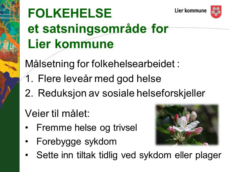 FOLKEHELSE et satsningsområde for Lier kommune