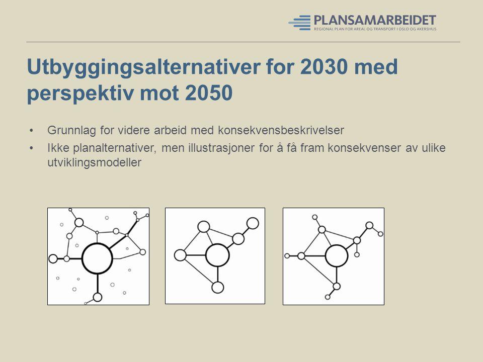 Utbyggingsalternativer for 2030 med perspektiv mot 2050