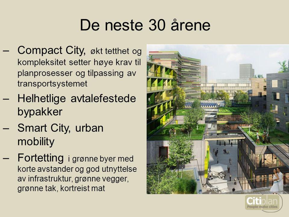 De neste 30 årene Compact City, økt tetthet og kompleksitet setter høye krav til planprosesser og tilpassing av transportsystemet.