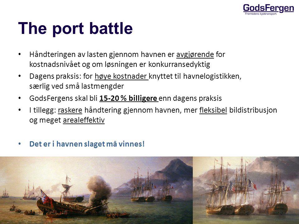 The port battle Håndteringen av lasten gjennom havnen er avgjørende for kostnadsnivået og om løsningen er konkurransedyktig.