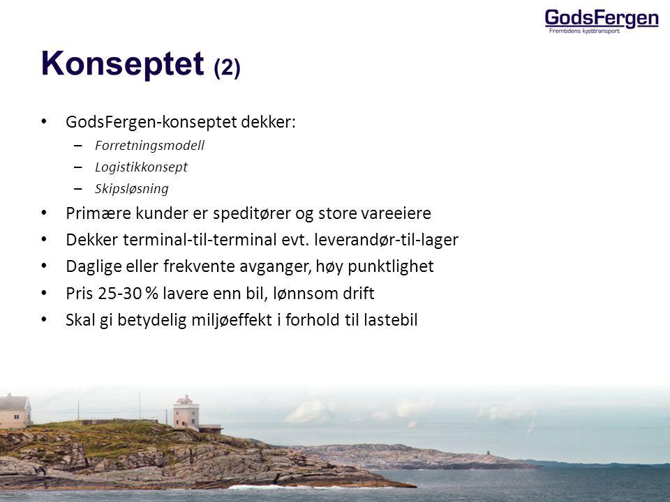 Konseptet (2) GodsFergen-konseptet dekker: