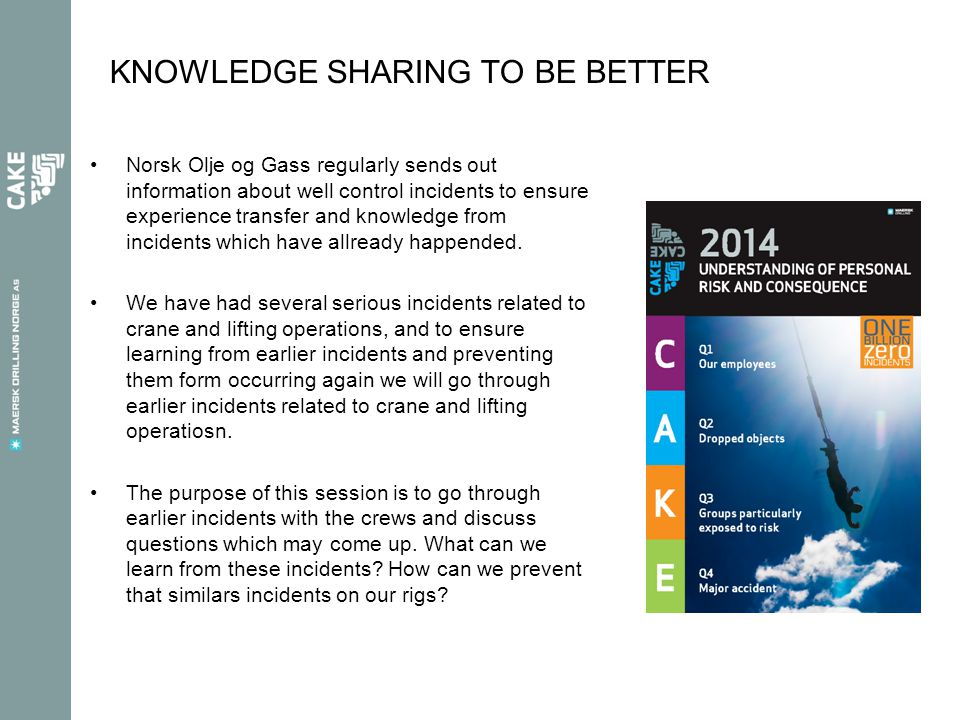 KNOWLEDGE SHARING TO BE BETTER