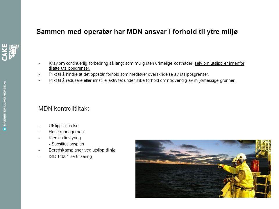 Sammen med operatør har MDN ansvar i forhold til ytre miljø