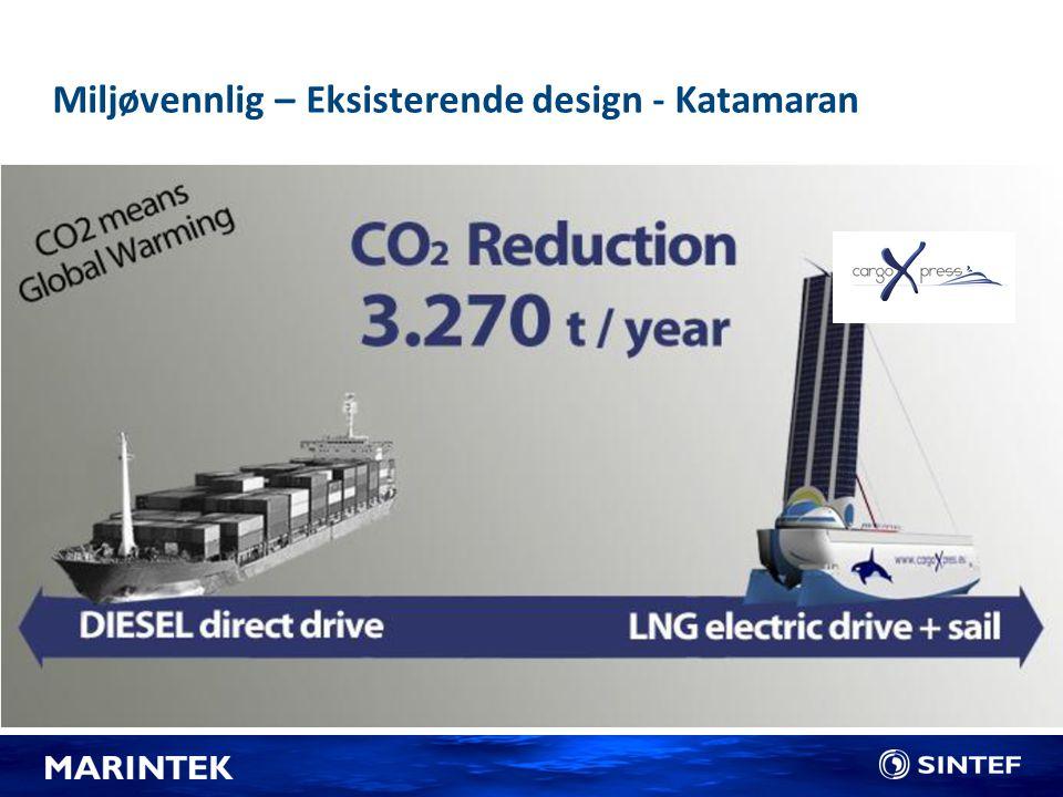 Miljøvennlig – Eksisterende design - Katamaran