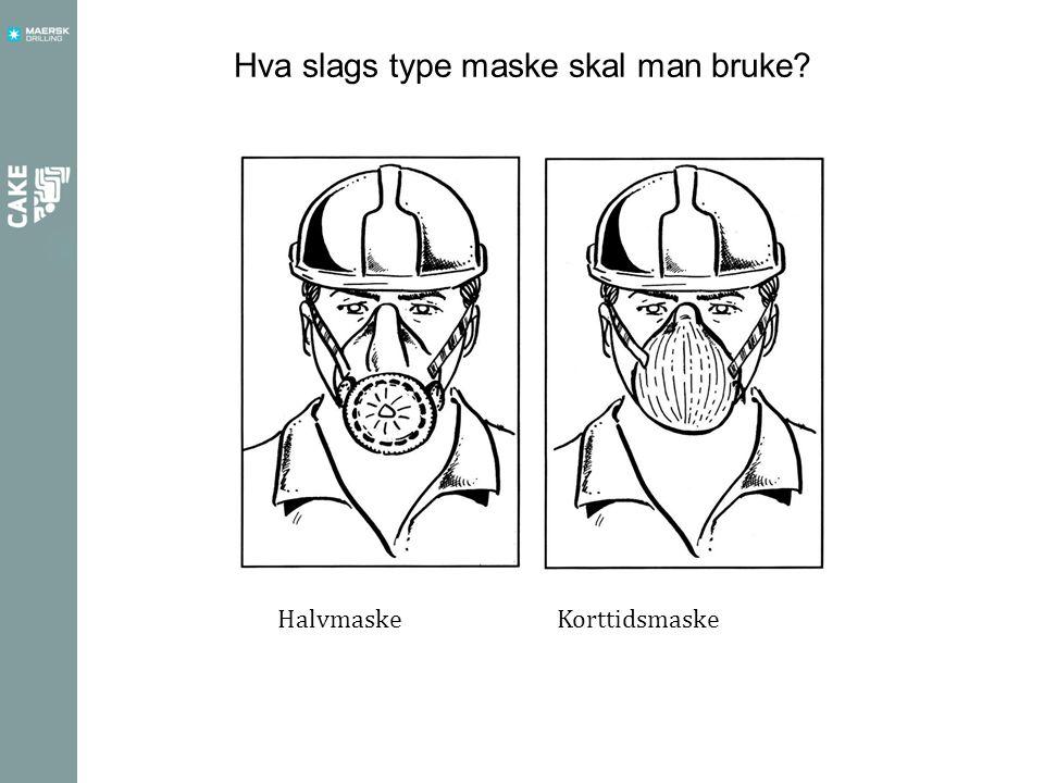 Hva slags type maske skal man bruke