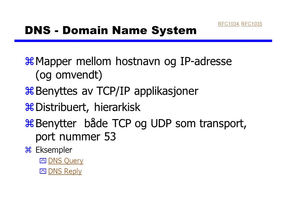 DNS - Domain Name System